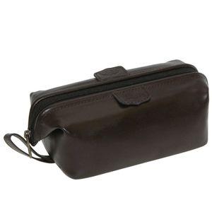 Dopp Kit Bag Toiletry Framed Bag Like New Leather